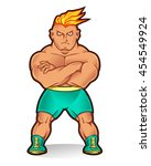 vector illustration of boxer... | Shutterstock .eps vector #454549924
