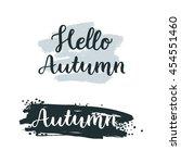 hand drawn autumn signs. vector ... | Shutterstock .eps vector #454551460