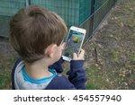 berlin  germany   july 18  2016 ... | Shutterstock . vector #454557940