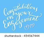 congratulations on your... | Shutterstock .eps vector #454567444