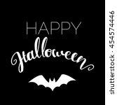 happy halloween message design...   Shutterstock .eps vector #454574446
