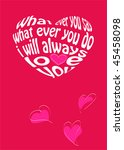valentines day card | Shutterstock . vector #45458098