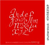 alphabet   number   handwriting ... | Shutterstock .eps vector #454583569