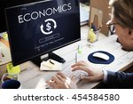 financial trade economics... | Shutterstock . vector #454584580