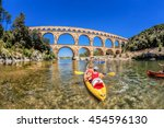 Pont Du Gard With Paddle Boats...