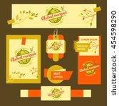 logo for restaurant cafe.... | Shutterstock . vector #454598290