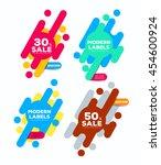 set of modern labels. vector... | Shutterstock .eps vector #454600924