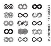 infinity symbol  vector set.... | Shutterstock .eps vector #454606696