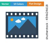 film frame icon. flat color...