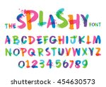 vector of stylized splashy font ... | Shutterstock .eps vector #454630573