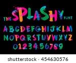 vector of stylized splashy font ... | Shutterstock .eps vector #454630576