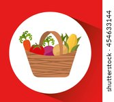 farm countryside vegetables... | Shutterstock .eps vector #454633144