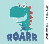 little dinosaur illustration... | Shutterstock .eps vector #454635604