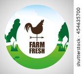 farm countryside weather vane... | Shutterstock .eps vector #454635700