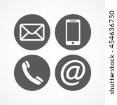 contact icons | Shutterstock . vector #454636750