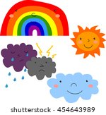 vector illustration. set... | Shutterstock .eps vector #454643989