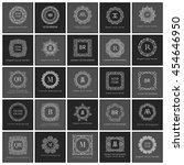 monogram sign logo and emblem... | Shutterstock .eps vector #454646950
