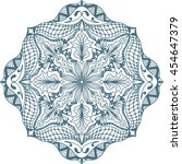 hand drawn background. mandala. ... | Shutterstock .eps vector #454647379