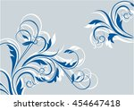 floral background with...   Shutterstock .eps vector #454647418