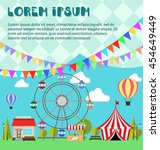 inventation card for amusement... | Shutterstock .eps vector #454649449
