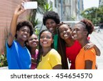 group of african american woman ... | Shutterstock . vector #454654570