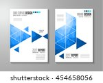 brochure template  flyer design ... | Shutterstock .eps vector #454658056