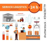 international logistic company... | Shutterstock .eps vector #454658779
