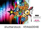 club disco flyer template with... | Shutterstock .eps vector #454660048