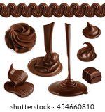 chocolate  cocoa butter ... | Shutterstock .eps vector #454660810