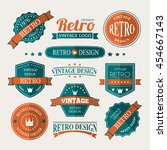 retro vintage insignias or... | Shutterstock .eps vector #454667143