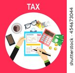 tax payment. government  state... | Shutterstock .eps vector #454673044