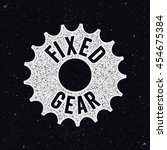 fixed gear logo  sign. bicycle... | Shutterstock .eps vector #454675384
