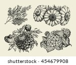 flowers. hand drawn sketch of... | Shutterstock .eps vector #454679908