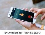 belgium july 19 2016   pokemon... | Shutterstock . vector #454681690