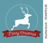 happy merry christmas isolated... | Shutterstock .eps vector #454695130