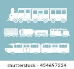 railroad train isolated icon... | Shutterstock .eps vector #454697224