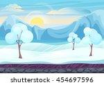 cartoon winter game style...