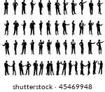 business people silhouette... | Shutterstock .eps vector #45469948