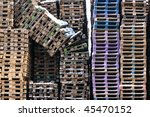 wooden palettes | Shutterstock . vector #45470152