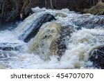 small waterfall on the river in ... | Shutterstock . vector #454707070
