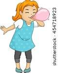 illustration of a little girl... | Shutterstock .eps vector #454718923