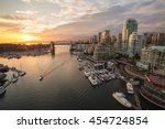 Stock photo view of burrard bridge and false creek in downtown vancouver british columbia canada taken 454724854