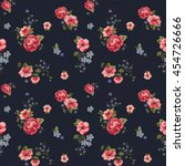 trendy seamless floral pattern... | Shutterstock .eps vector #454726666
