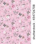 trendy seamless floral pattern... | Shutterstock .eps vector #454726708
