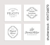 hand drawn logo collection.... | Shutterstock . vector #454726870