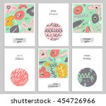 trendy creative hand drawn... | Shutterstock . vector #454726966