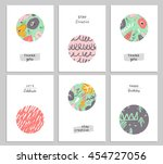 trendy creative hand drawn... | Shutterstock . vector #454727056