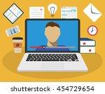 education  training  online... | Shutterstock .eps vector #454729654