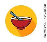 chicken soup vector. icon for... | Shutterstock .eps vector #454730800