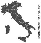 italy map | Shutterstock .eps vector #454733554